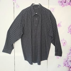 Arrow Blue Pinstripe Button-down Casual Shirt XXL